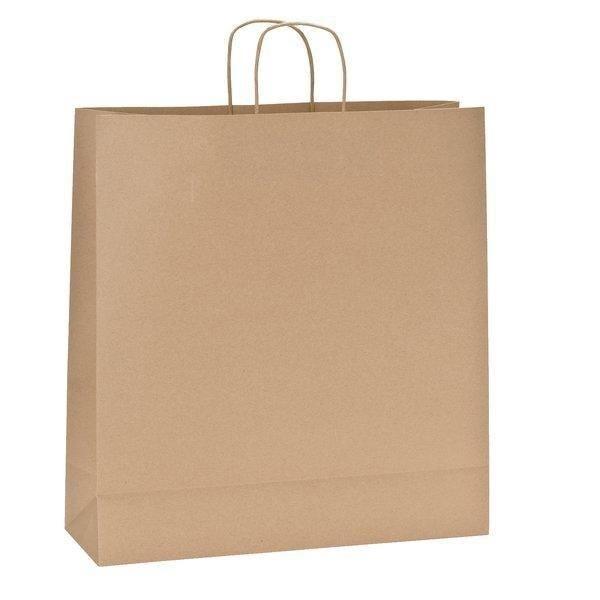 Papieren kraft tassen met gedraaid handvat