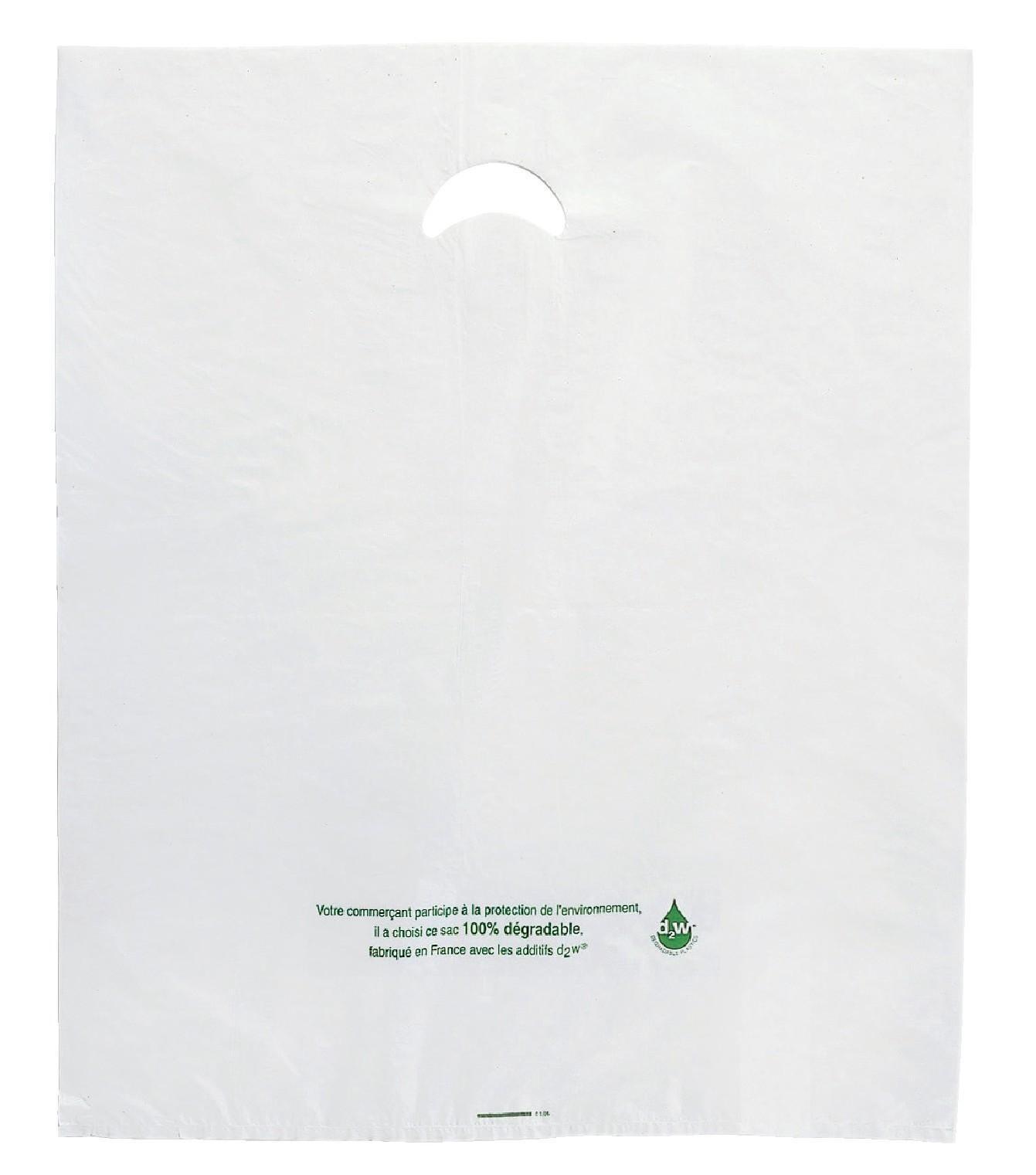 Plastic tassen met uitgesneden handvat