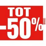 "Poster ""tot -50%""  80x60cm - rood"
