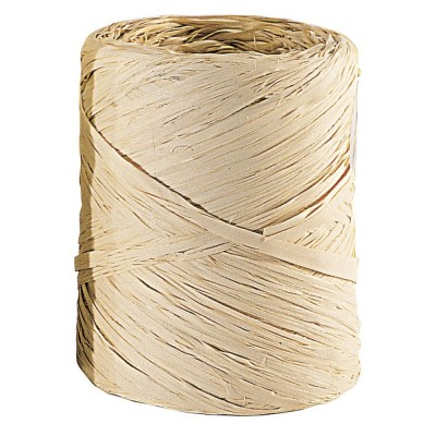 Raffia op rol  naturel 200 m x 15 mm-