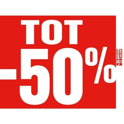 Tot -50% poster rood 60x60cm-Sale-affiches